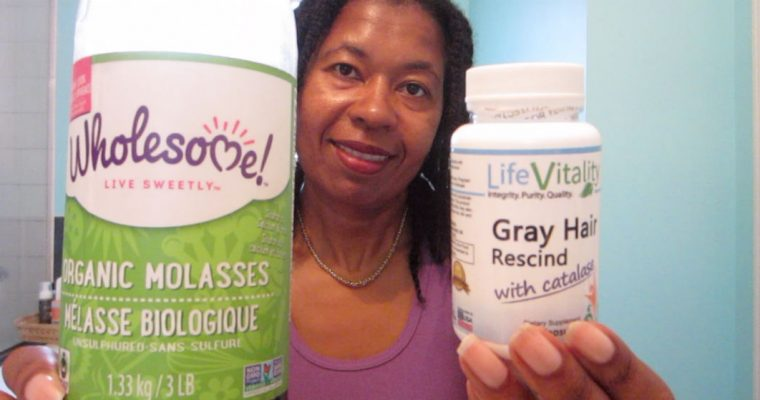 Life Vitality Gray Hair Rescind verses Wholesome Molasses | Gray hair reversal